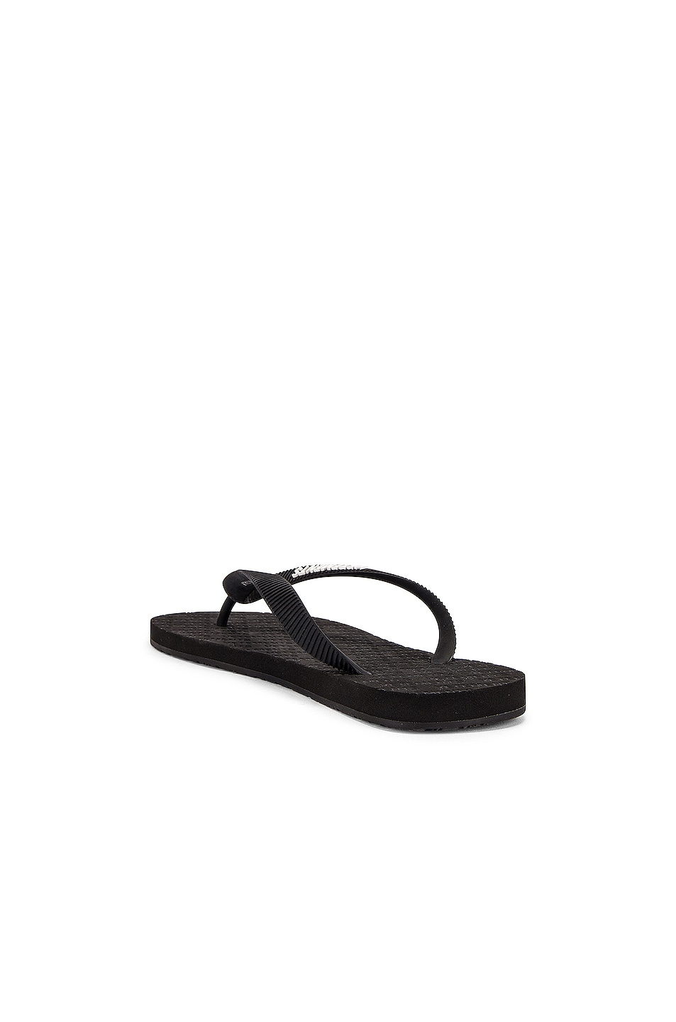 Image 3 of VETEMENTS Classic Logo Flip Flops in Black