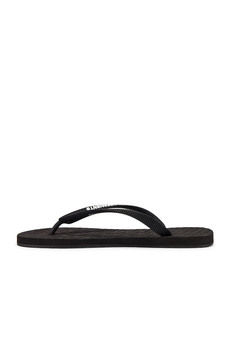 Image 5 of VETEMENTS Classic Logo Flip Flops in Black