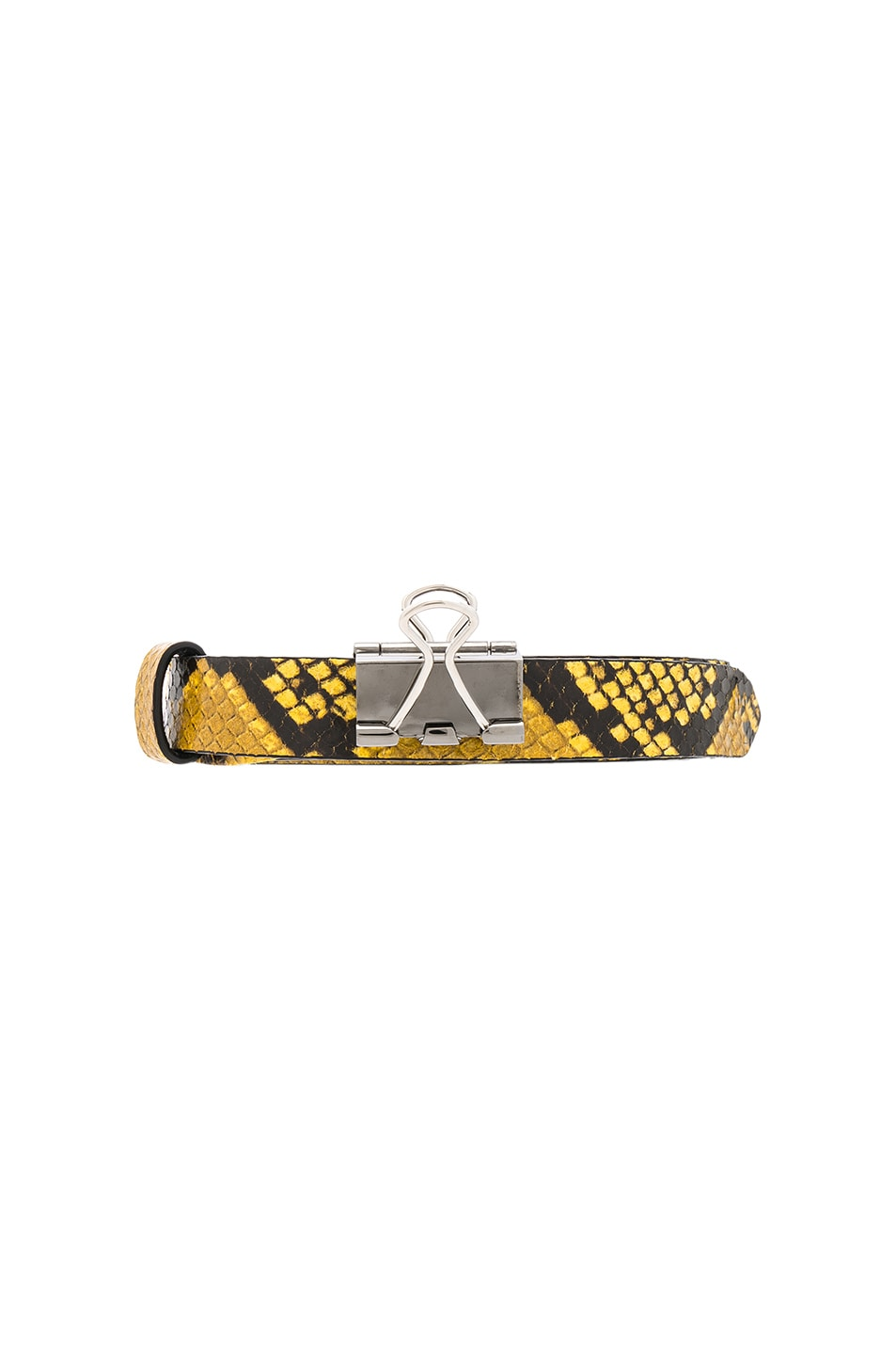 Image 1 of VETEMENTS Thin Python Paper Clip Belt in Yellow
