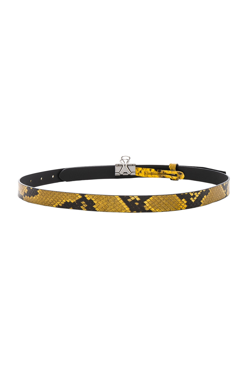 Image 3 of VETEMENTS Thin Python Paper Clip Belt in Yellow