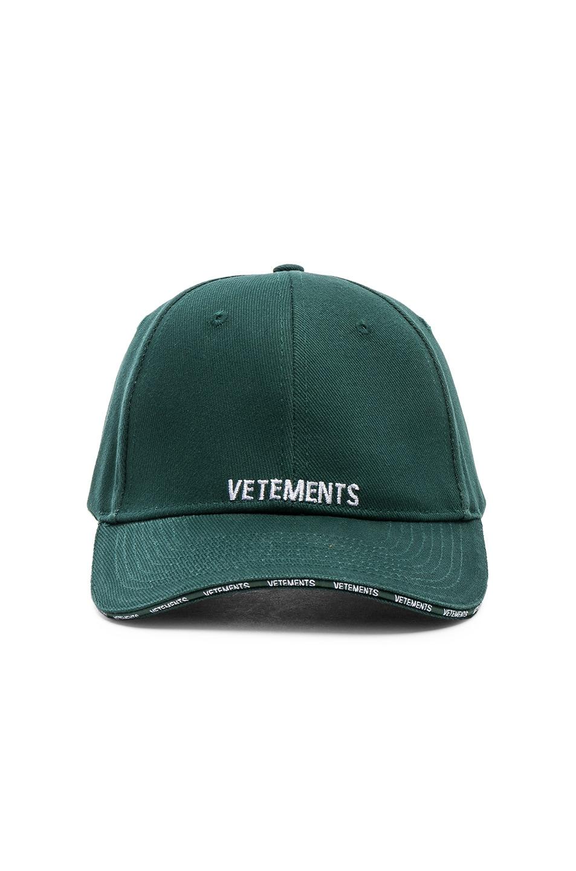df31e8042593fa Image 1 of VETEMENTS Logo Cap in Green