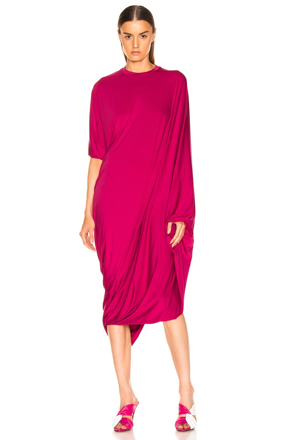 Image 1 of VETEMENTS Asymmetric Evening Dress in Fuchsia