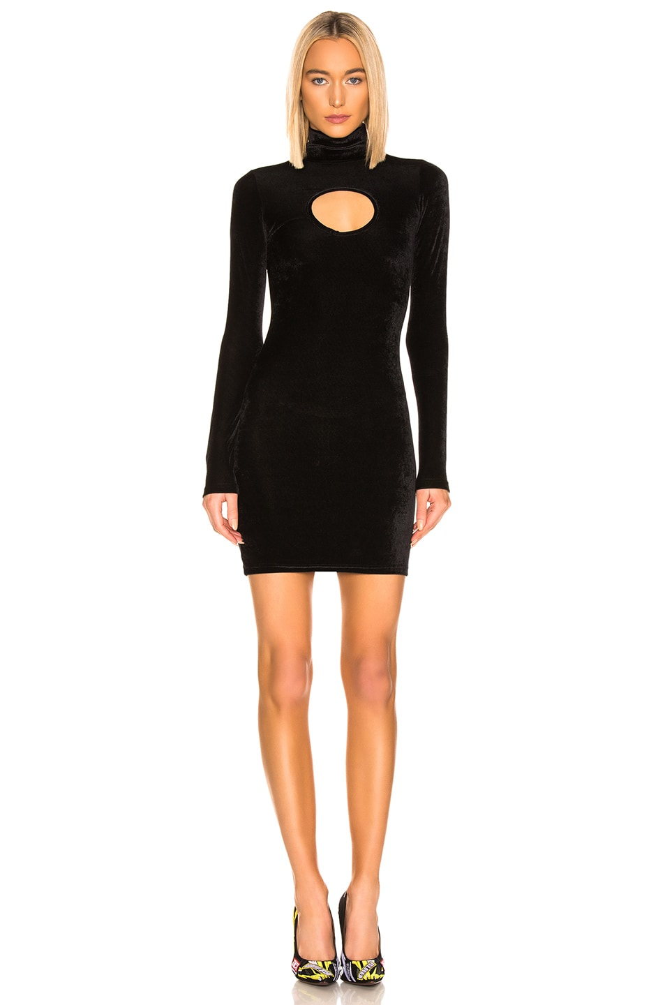 Image 1 of VETEMENTS Cut Out Body Dress in Black