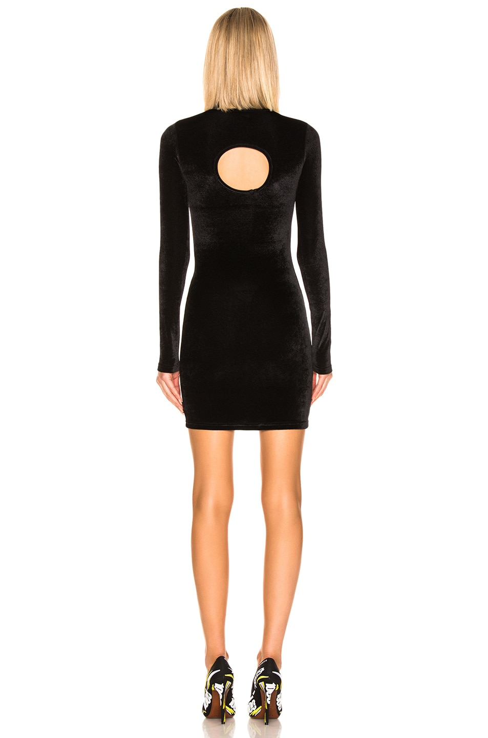Image 3 of VETEMENTS Cut Out Body Dress in Black