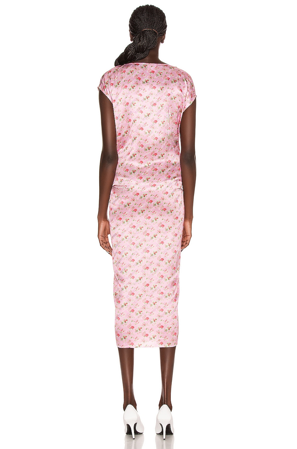 Image 3 of VETEMENTS Lining Dress in Pink Flowers