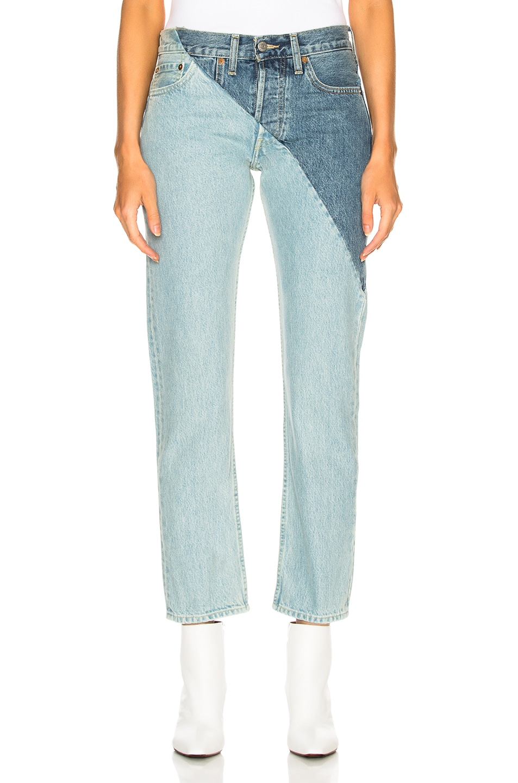 Image 1 of VETEMENTS x Levis Cross Cut Jeans in Blue