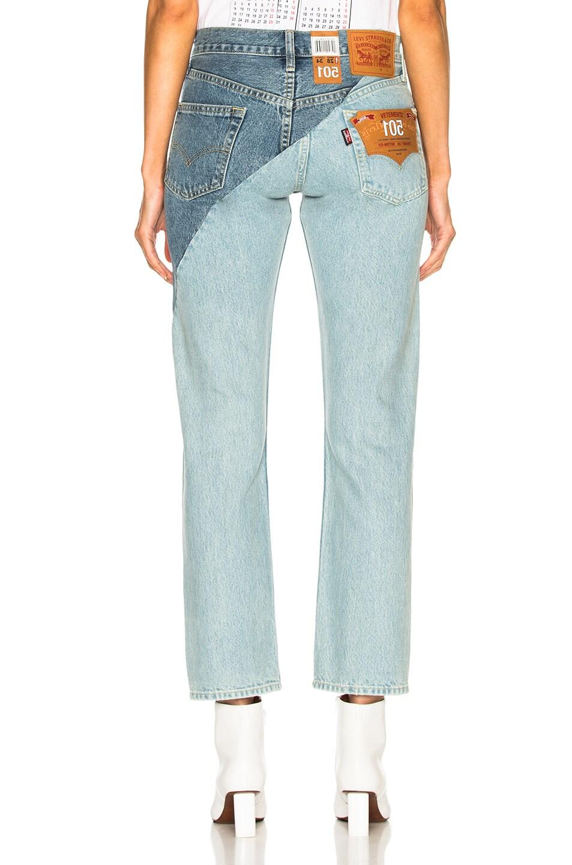 Image 4 of VETEMENTS x Levis Cross Cut Jeans in Blue