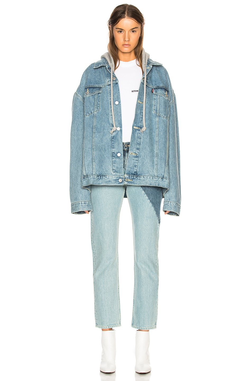 Image 5 of VETEMENTS x Levis Cross Cut Jeans in Blue
