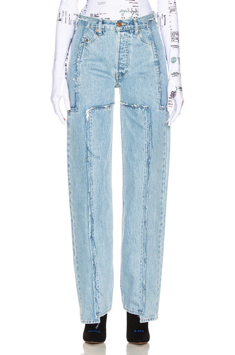 Image 1 of VETEMENTS Frayed Denim in Light Blue