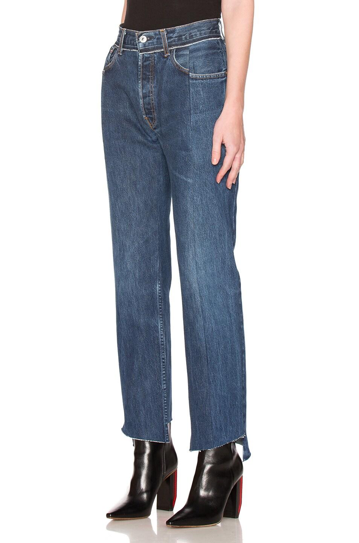 Image 2 of VETEMENTS Season 1 Jeans in Blue
