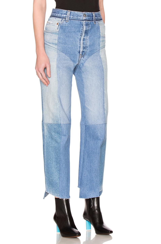 Image 3 of VETEMENTS Season 3 Biker Jeans in Blue