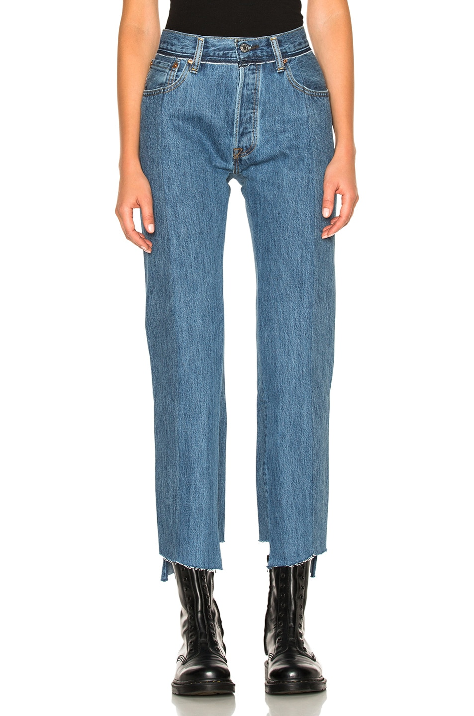 Image 2 of VETEMENTS x Levi's Classic Reworked Denim in Blue