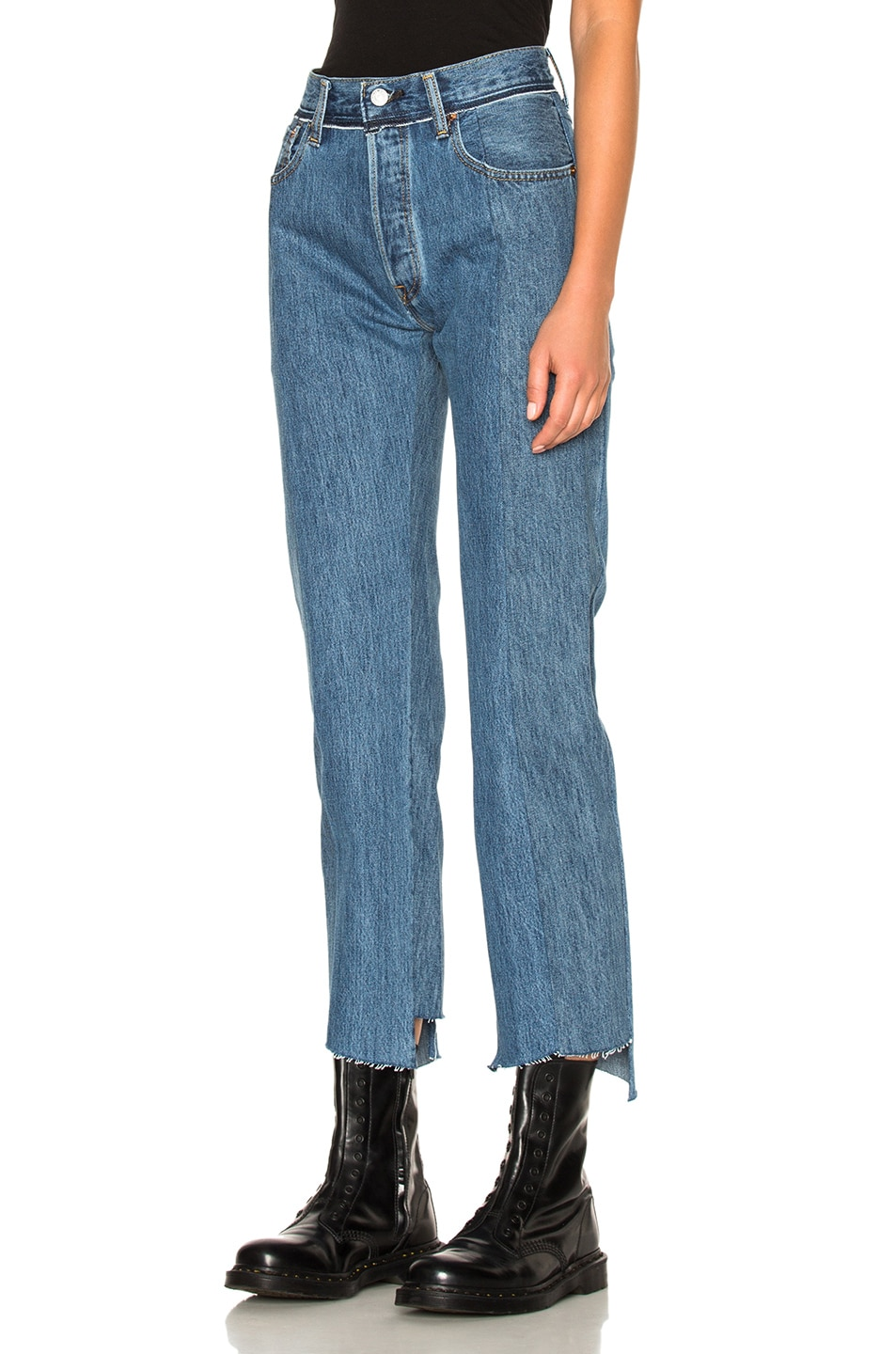 Image 3 of VETEMENTS x Levi's Classic Reworked Denim in Blue