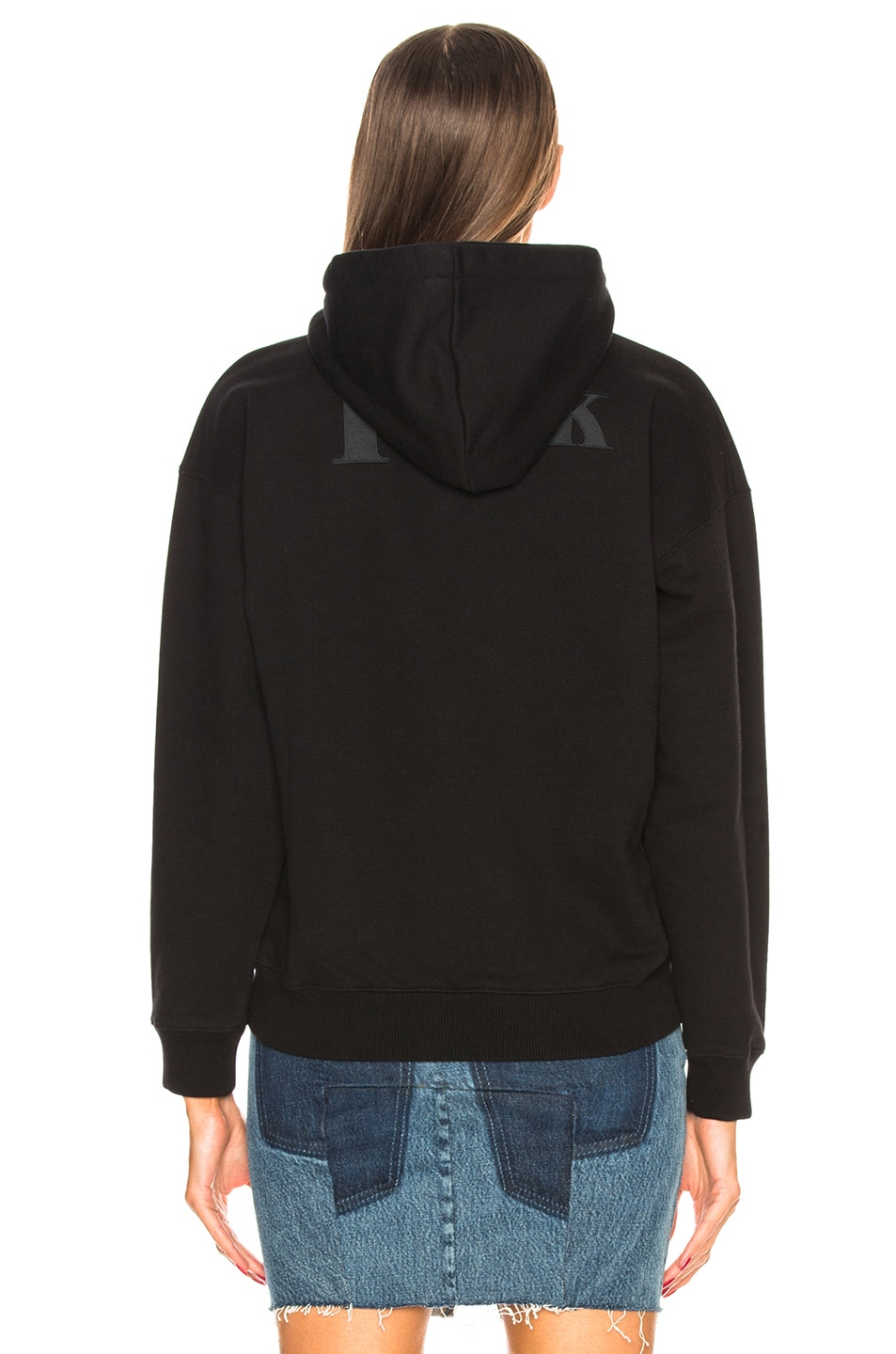 Image 3 of VETEMENTS Graphic Fitted Hoodie in Black