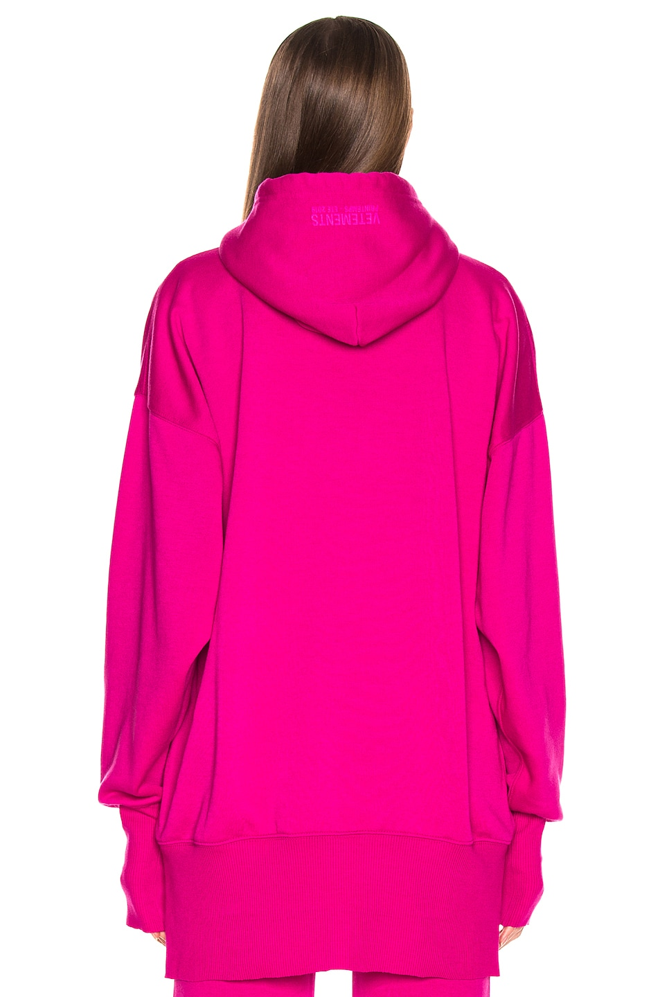 Image 5 of VETEMENTS Cartoon Hoodie in Fuchsia