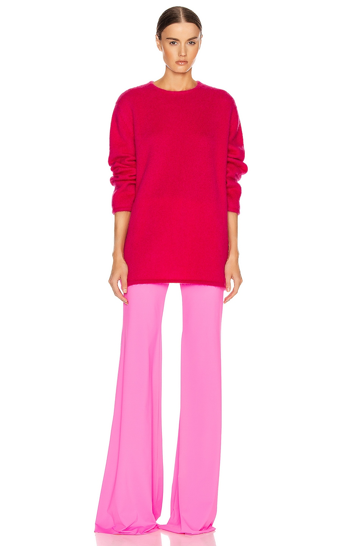 Image 4 of VETEMENTS Open Back Knit Sweater in Raspberry