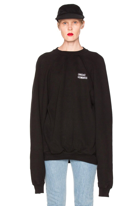 Image 1 of VETEMENTS Oversized Sweatshirt Unidad Hombres in Black