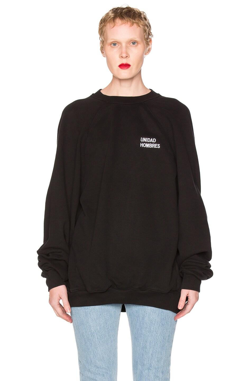 Image 4 of VETEMENTS Oversized Sweatshirt Unidad Hombres in Black