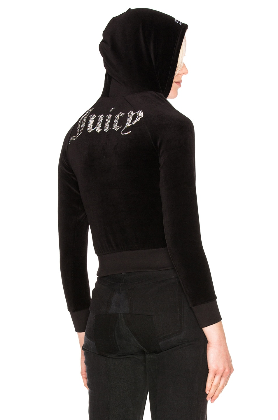 Image 1 of VETEMENTS x Juicy Couture Shrunk Shoulder Hoodie in Black 8c0c69e7a