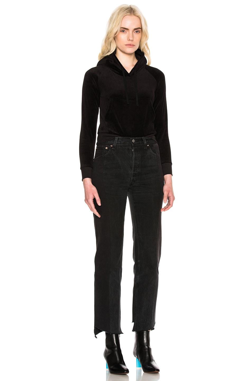 b23b3bab43 Image 7 of VETEMENTS x Juicy Couture Shrunk Shoulder Hoodie in Black