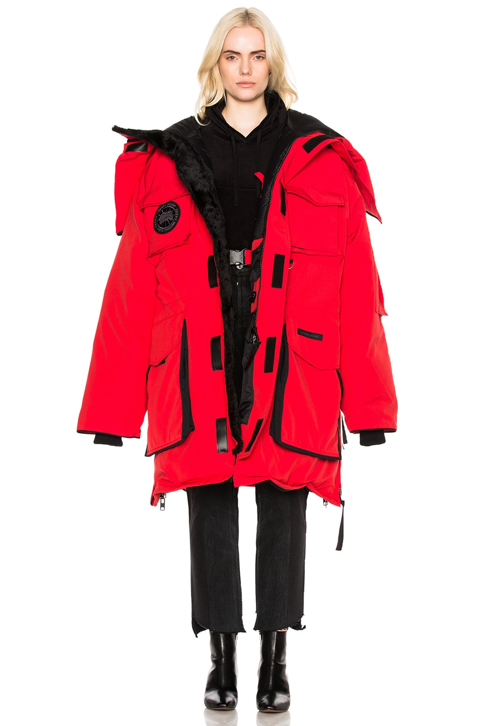 Image 1 of VETEMENTS x Canada Goose Oversized Fold Up Parka in Red