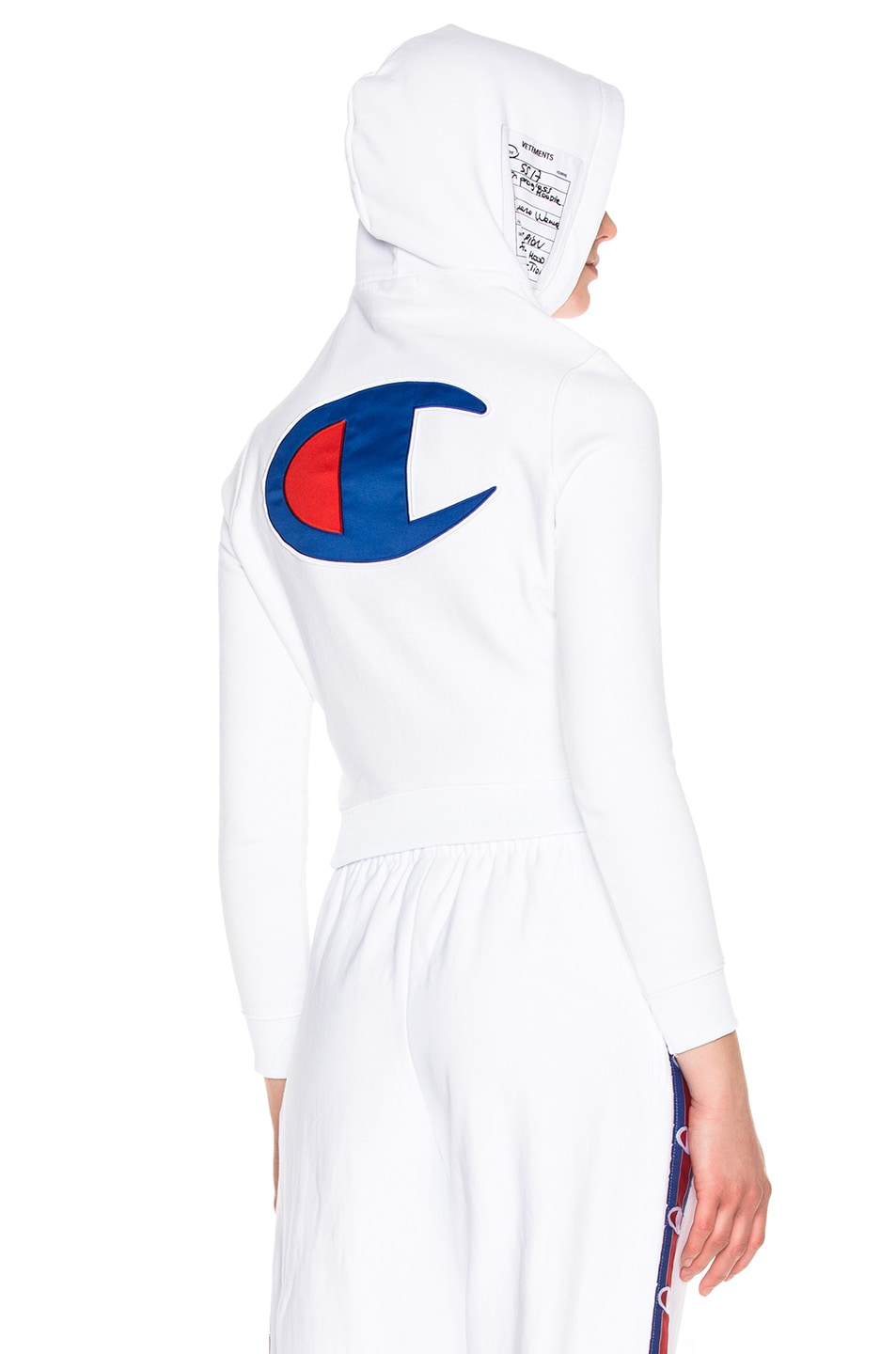 Image 1 of VETEMENTS x Champion Fitted Hoodie in White