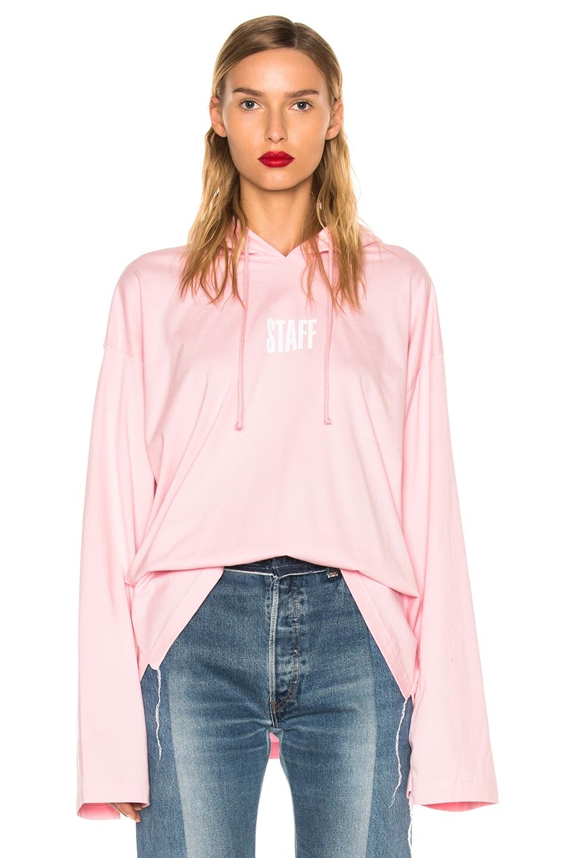 Image 1 of VETEMENTS x Hanes Staff Hoodie in Pink