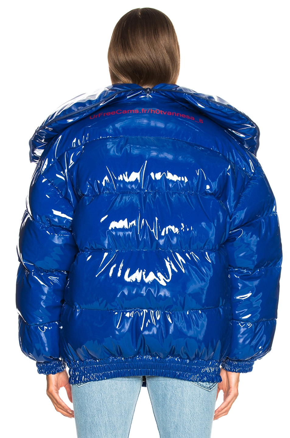 Image 5 of VETEMENTS Puffer Jacket in Blue
