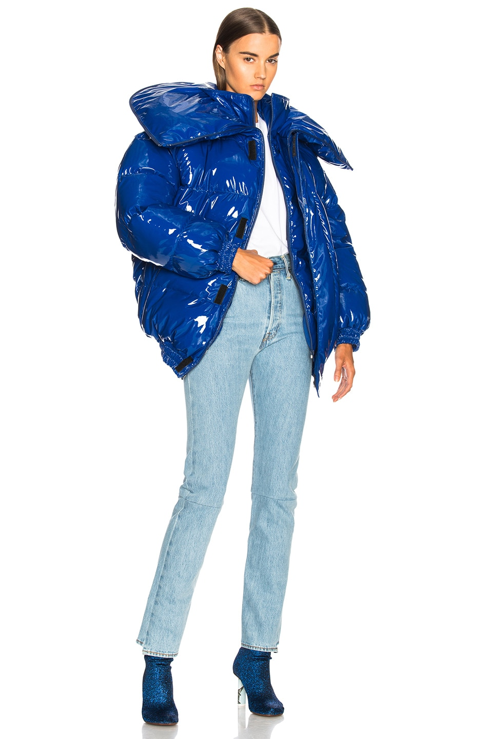 Image 6 of VETEMENTS Puffer Jacket in Blue