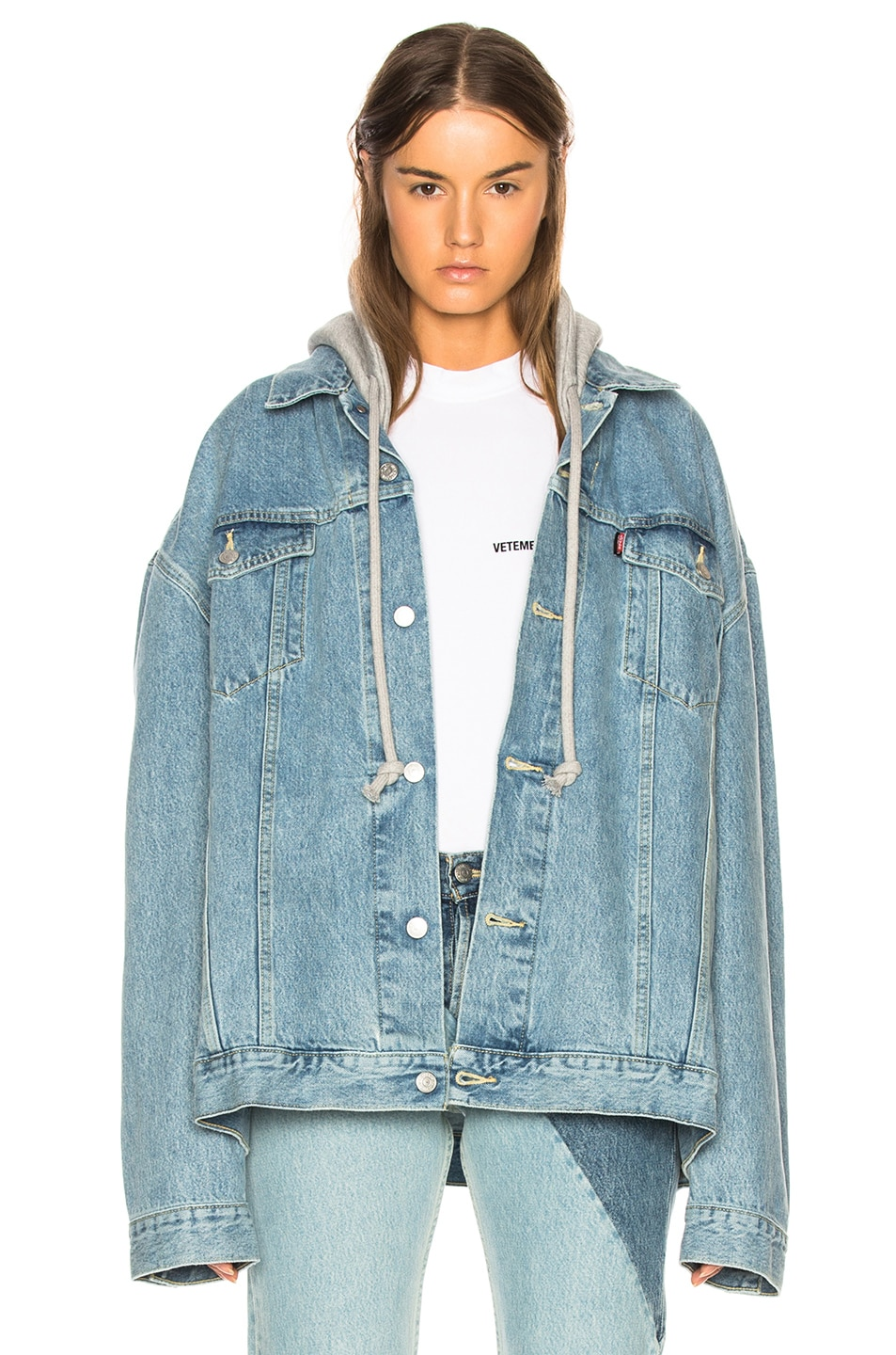 Image 1 of VETEMENTS x Levis Oversized Denim Jacket in Blue