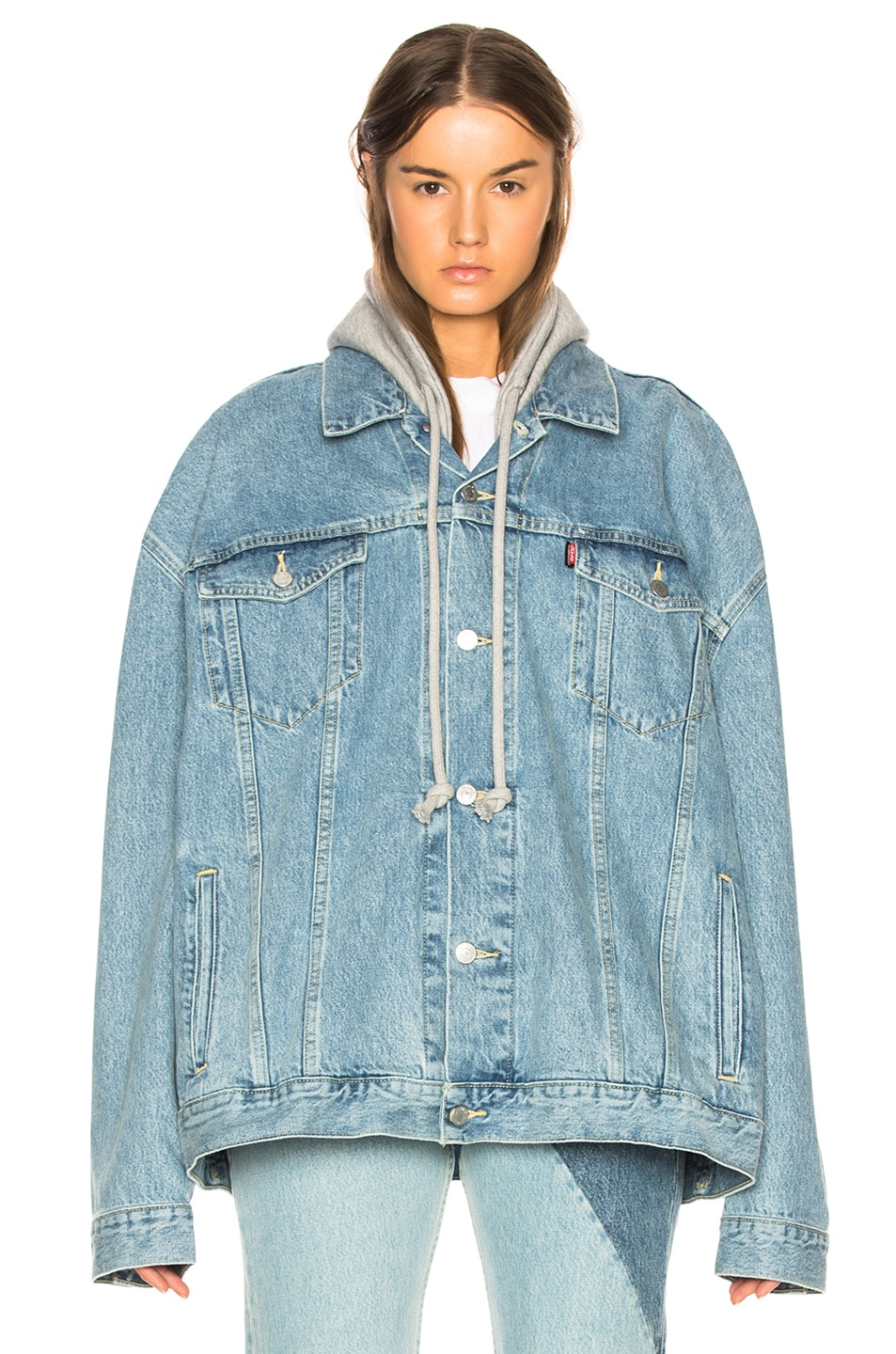 Image 2 of VETEMENTS x Levis Oversized Denim Jacket in Blue