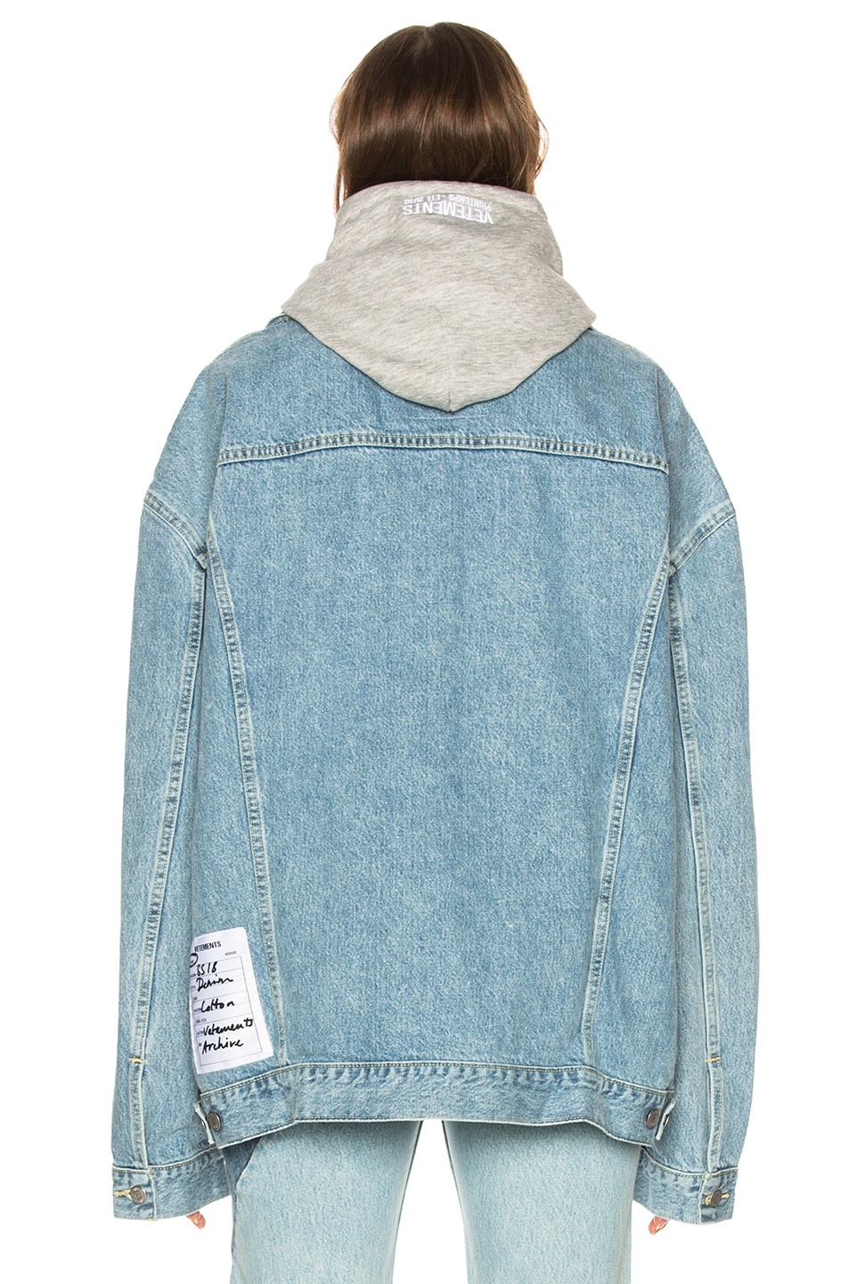 Image 4 of VETEMENTS x Levis Oversized Denim Jacket in Blue