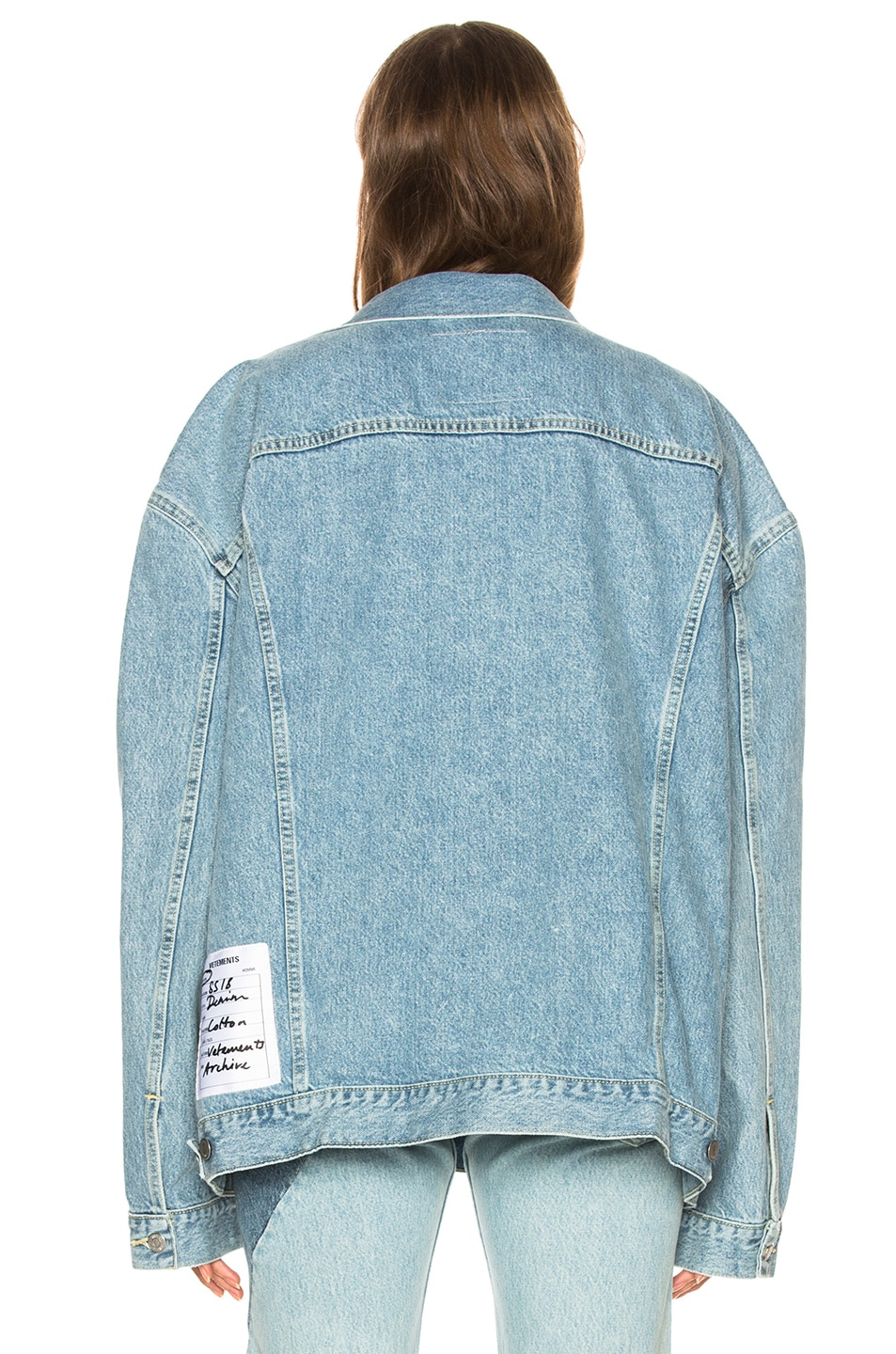 Image 5 of VETEMENTS x Levis Oversized Denim Jacket in Blue