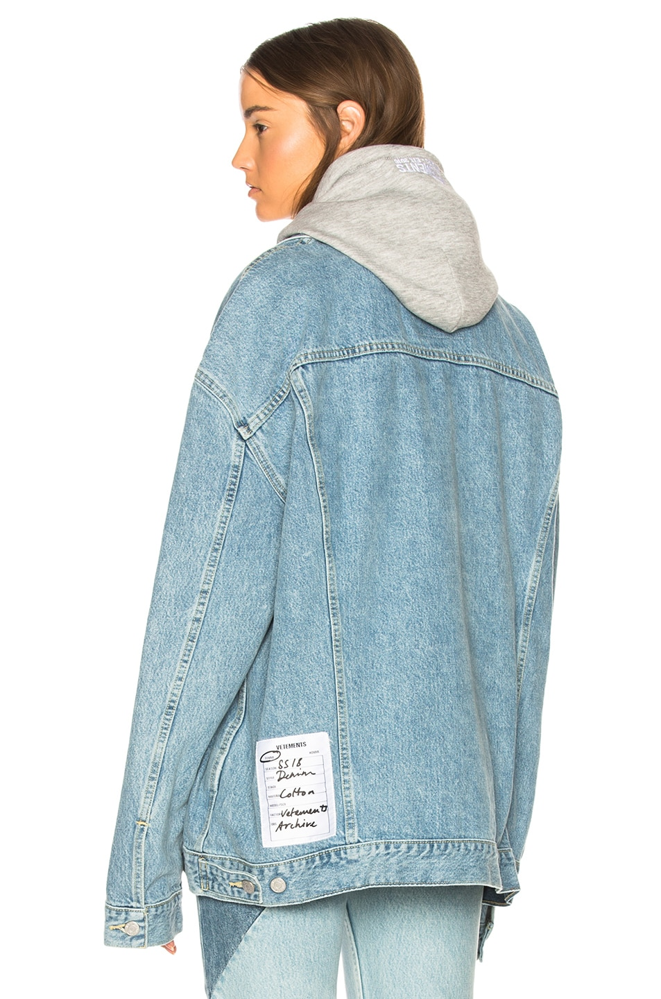 Image 6 of VETEMENTS x Levis Oversized Denim Jacket in Blue