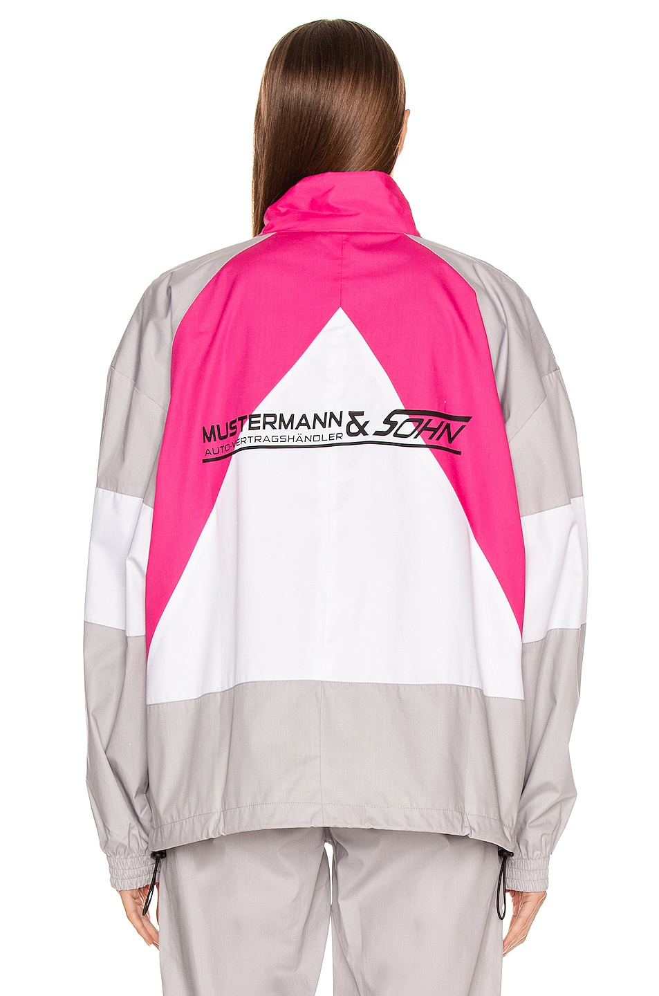 Image 5 of VETEMENTS Tracksuit Jacket in Grey & Pink & White