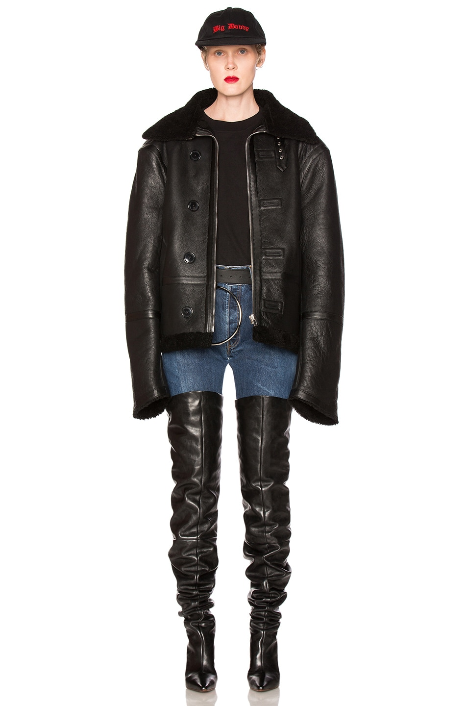 Image 1 of VETEMENTS Oversized Sheep Shearling Jacket in Black