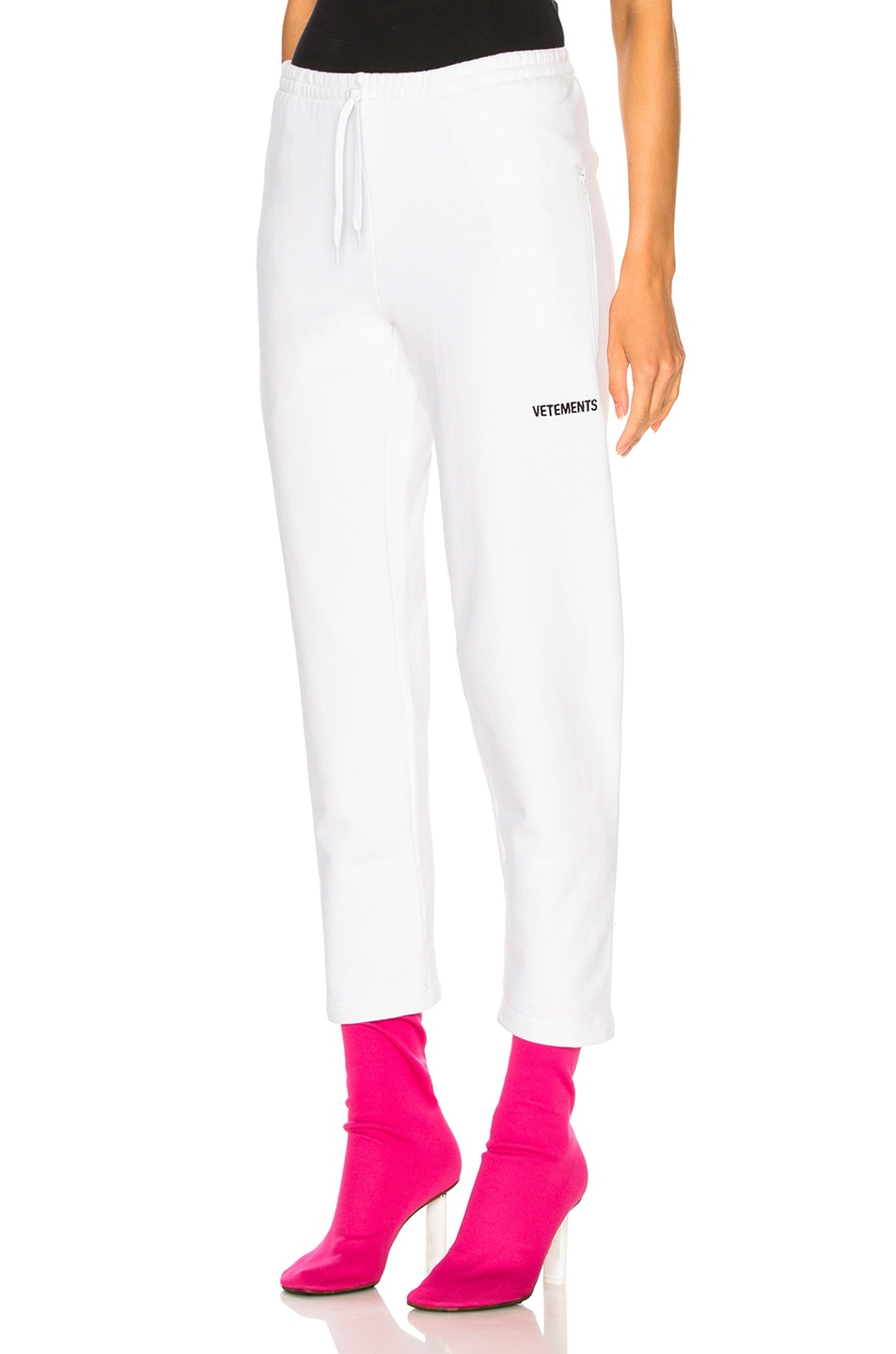 Image 1 of VETEMENTS Small Logo Sweatpants in White