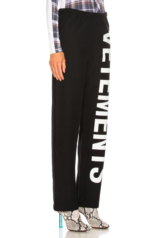 Image 2 of VETEMENTS Logo Sweatpants in Black