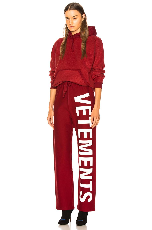 Image 5 of VETEMENTS Logo Sweatpants in Red