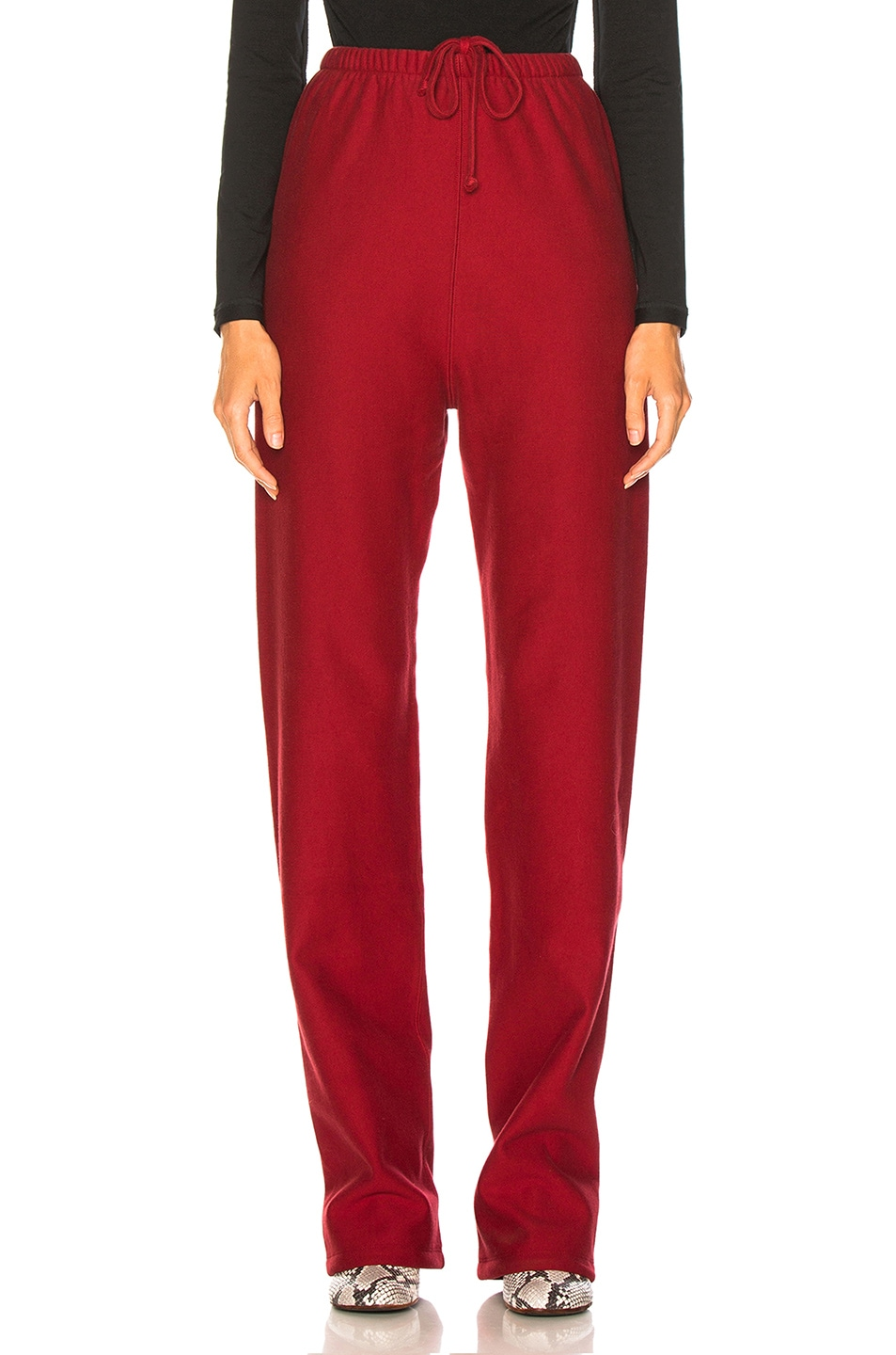 Image 2 of VETEMENTS High Heel Sweatpants in Red