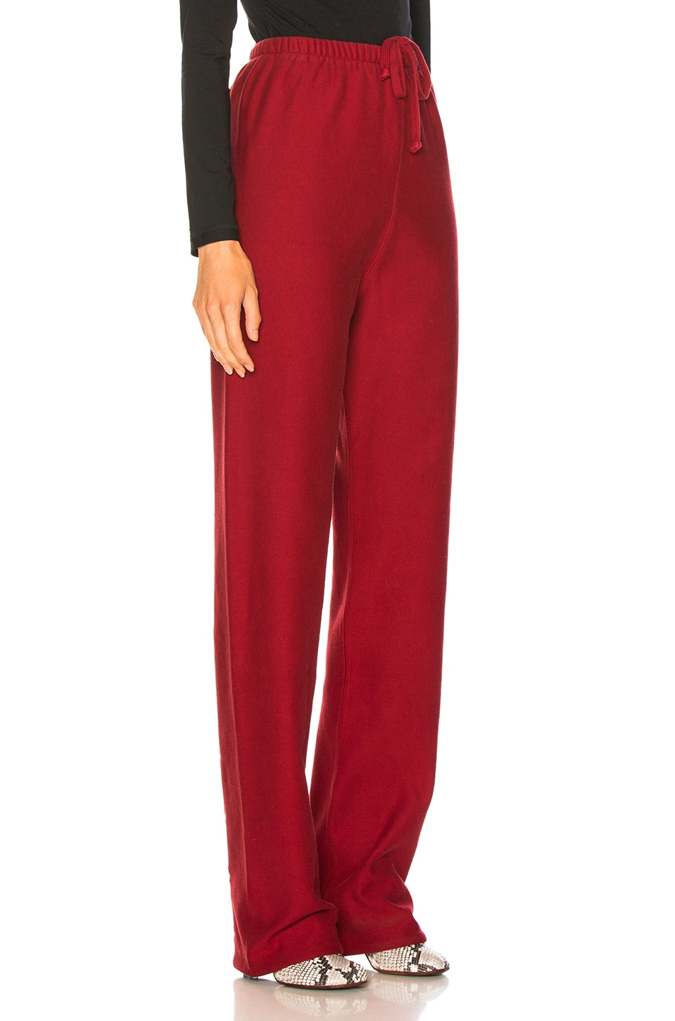 Image 3 of VETEMENTS High Heel Sweatpants in Red