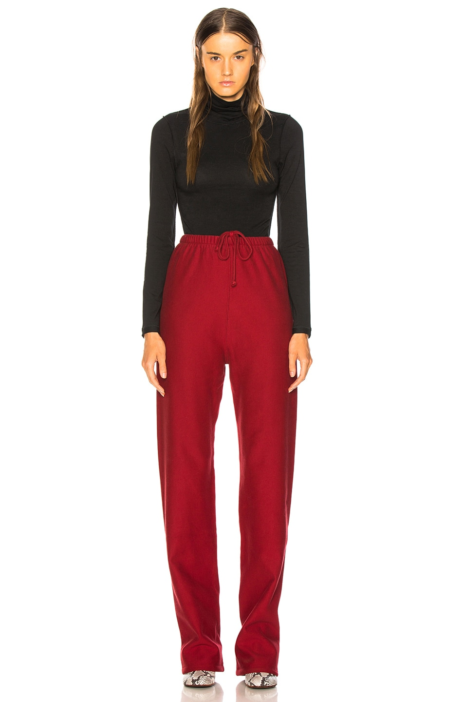 Image 5 of VETEMENTS High Heel Sweatpants in Red