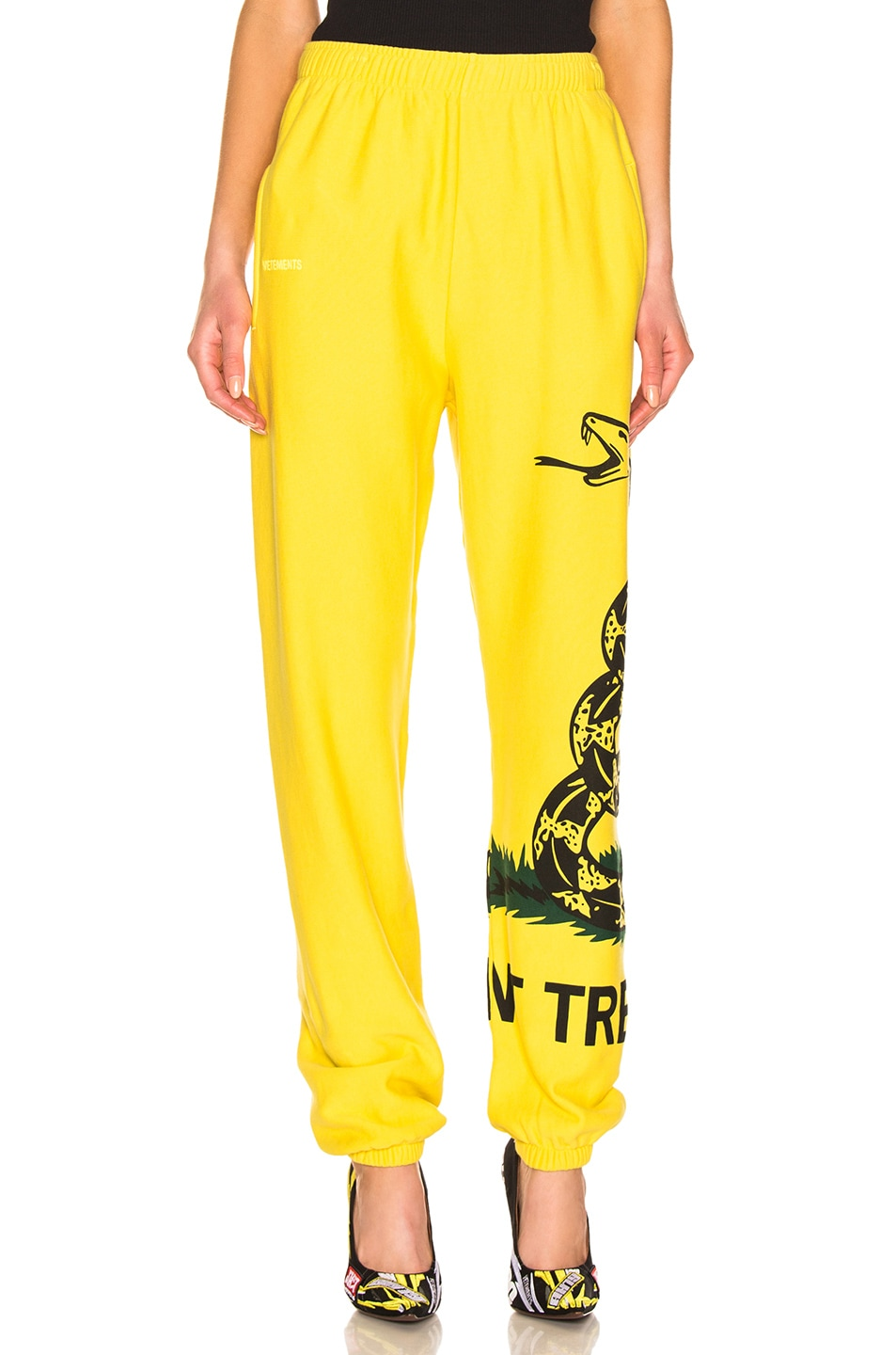 Image 2 of VETEMENTS Snake Sweatpant in Yellow