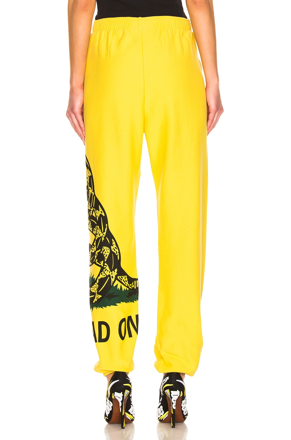 Image 4 of VETEMENTS Snake Sweatpant in Yellow