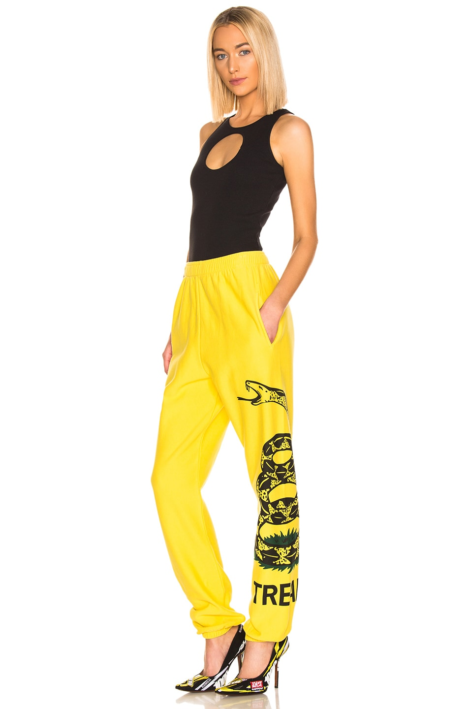 Image 5 of VETEMENTS Snake Sweatpant in Yellow