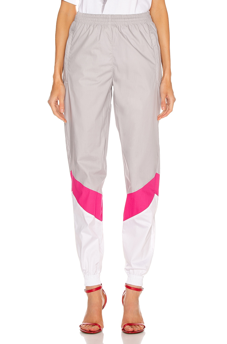 Image 1 of VETEMENTS Mustermann Pants in Grey & Pink & White