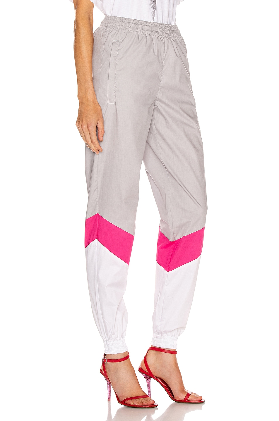 Image 2 of VETEMENTS Mustermann Pants in Grey & Pink & White