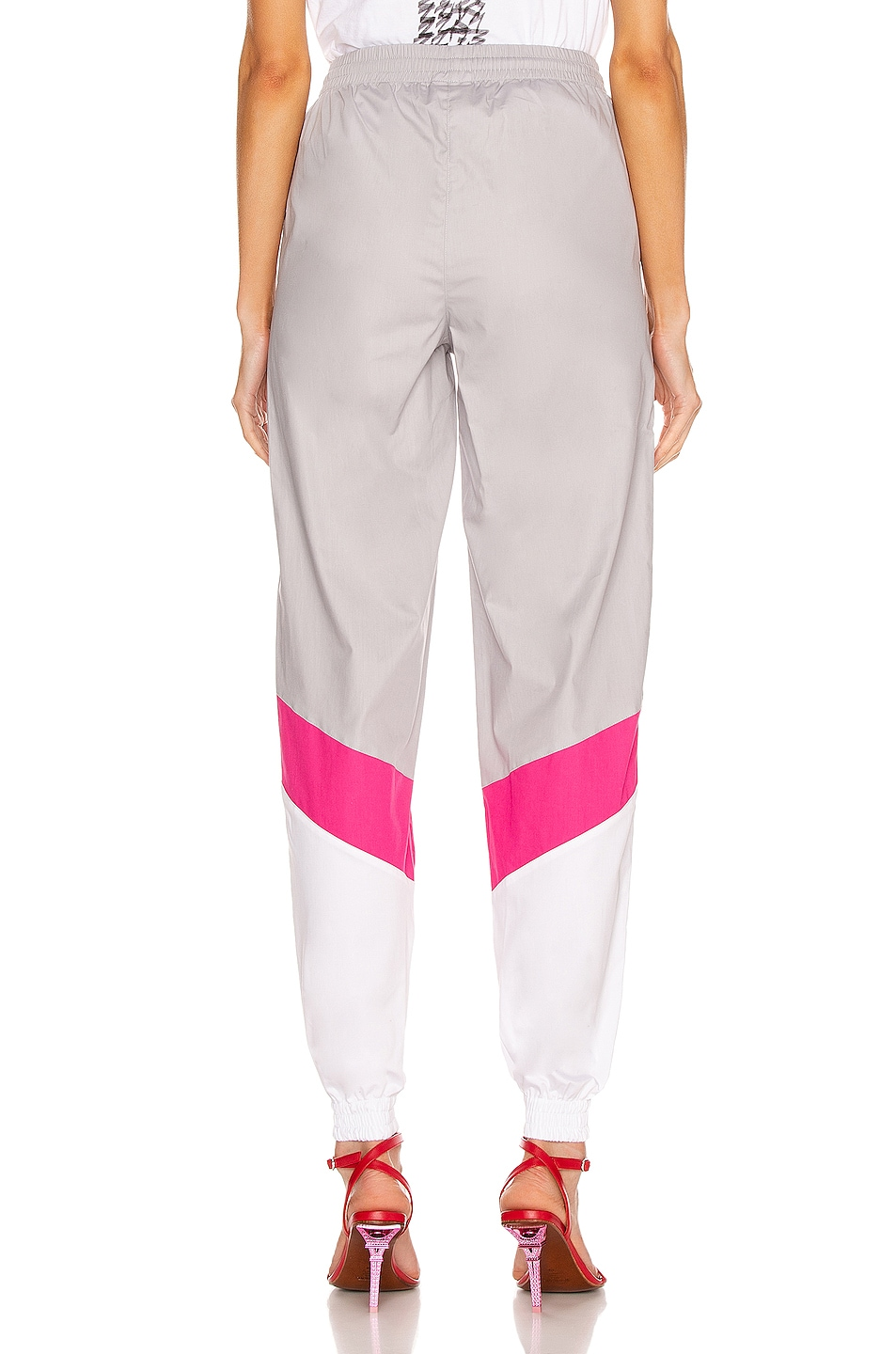 Image 3 of VETEMENTS Mustermann Pants in Grey & Pink & White