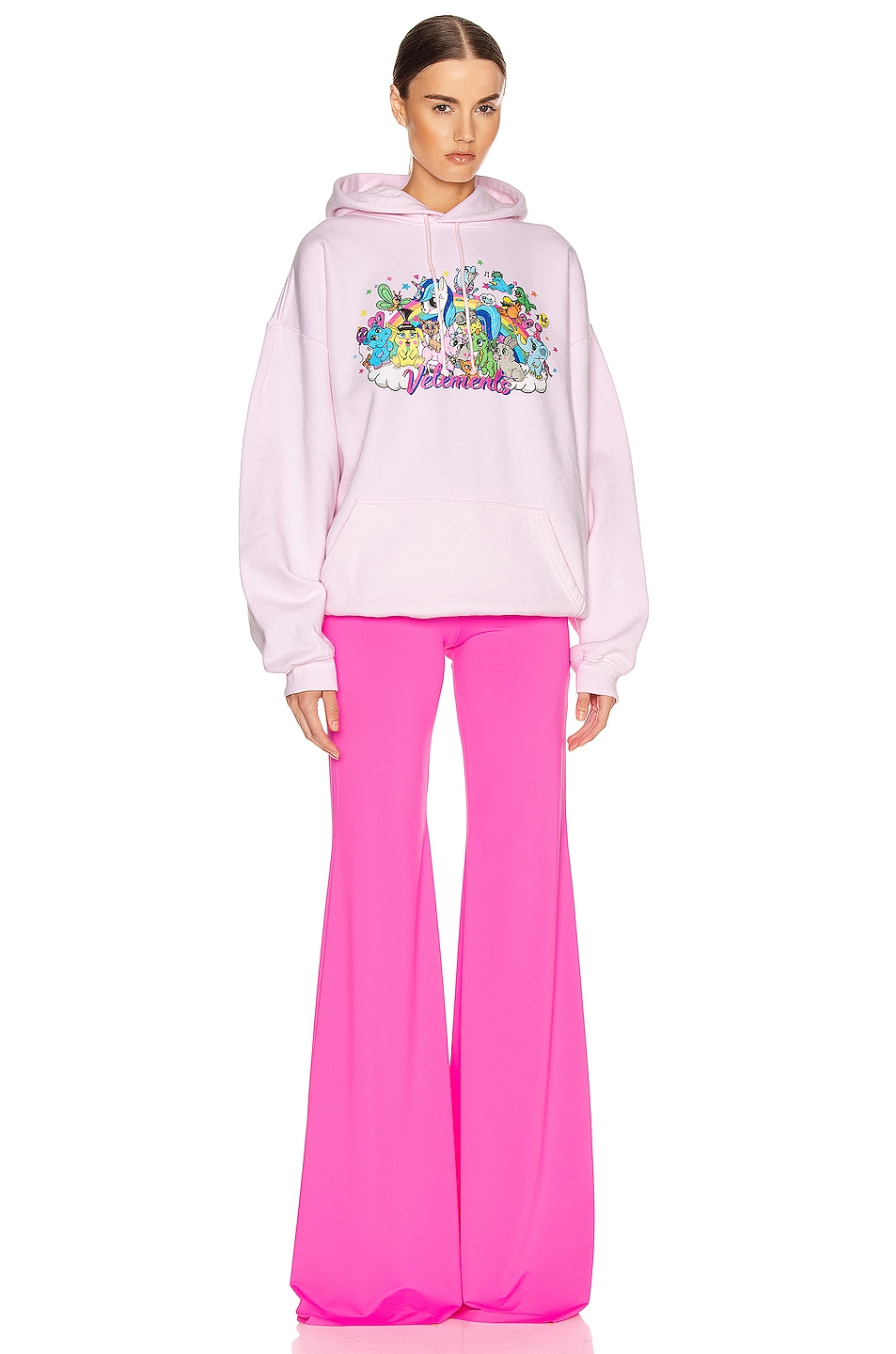Image 5 of VETEMENTS Evening Bootcut Pant in Fluo Pink