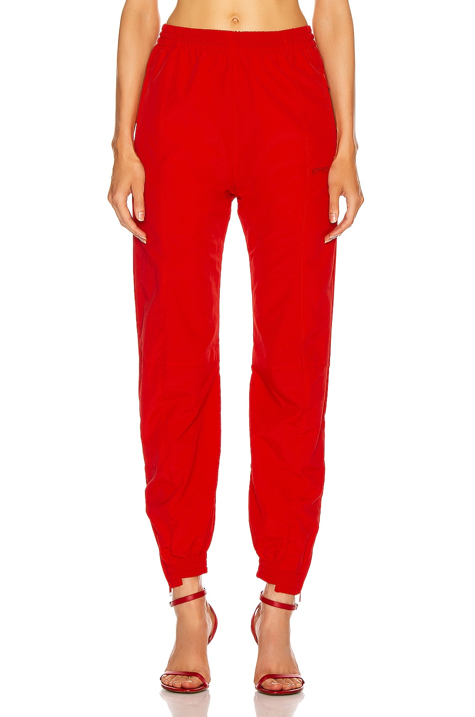Image 1 of VETEMENTS Cut Up Tracksuit Pant in Red